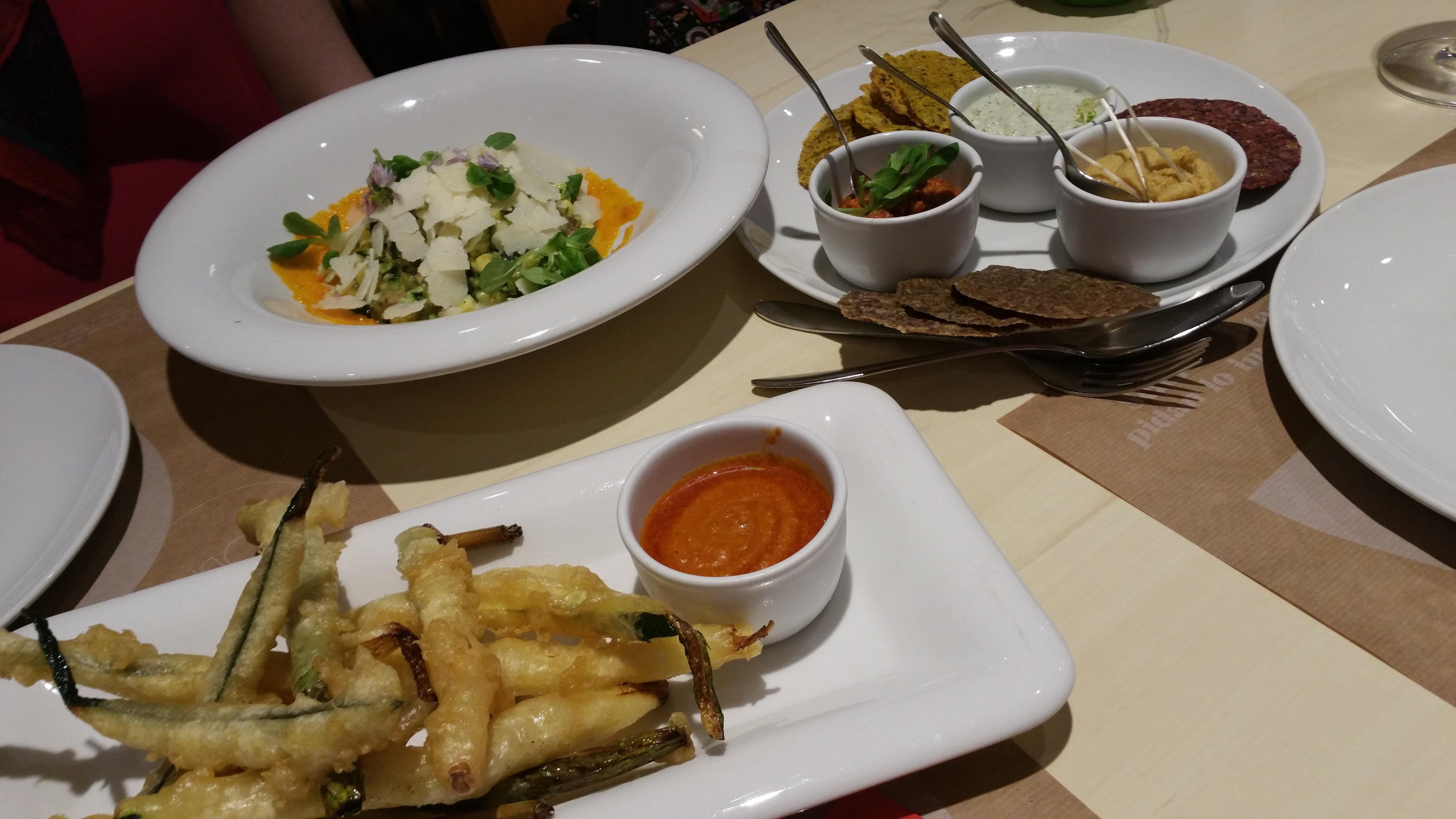 Entrantes restaurante Baobad