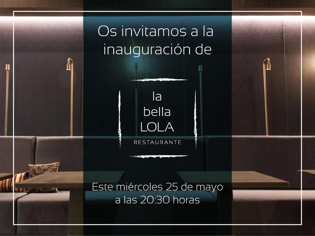 Invitación a Restaurante La bella LOLA
